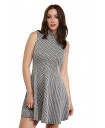 75%polyester/20%viscose/5%elasthane jacquard dress