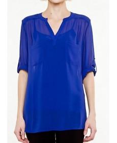 100%polyester chiffon shirts